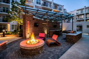 Grilling Station and Lounge Area at Morningside Atlanta by Windsor, Atlanta, GA
