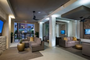 Covered, Outdoor Lounge With Conversational Seating at Windsor at West University, Houston, 77005