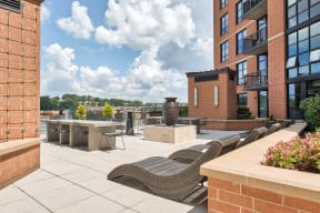 Outdoor entertaining space at IO Piazza by Windsor, 22206, VA
