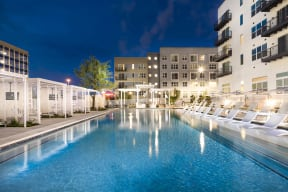 Stunning Pool with Cabanas and Sundeck at Metro West, Plano, 75024