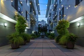 Stunning courtyards at Tera Apartments, Washington, 98033