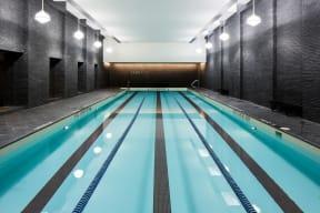 Indoor, Lap Pool at The Aldyn, 60 Riverside Blvd., New York