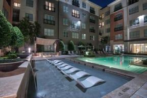 Resort-Style Pool with Sundeck at West University, Houston, TX