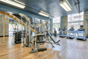 Two Level Fitness Center at Allegro at Jack London Square, Oakland, CA