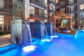 Pool Side Relaxing Area at Windsor by the Galleria, Dallas, Texas