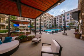 Poolside Lounge Areas with TVs at Windsor Old Fourth Ward, 608 Ralph McGill Blvd NE, GA