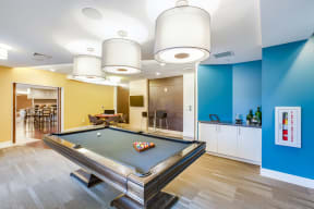 Recreation Room with Billiards and Card Table at Vox on Two, 223 Concord Turnpike, MA