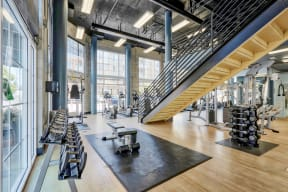 Free Weights and Cardio Equipment at Allegro at Jack London Square Oakland, California