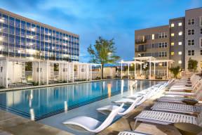 Resort-style swimming pool at Metro West, 75024, TX