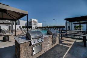 Lounge Area and Cabanas Around the Pool at Morningside Atlanta by Windsor, Atlanta, GA