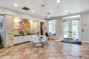 Inviting Reception Lobby at Pavona Apartments, San Jose, CA