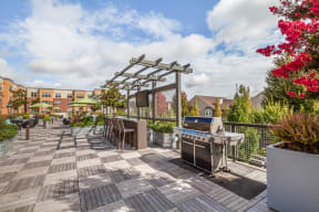 Sky Deck with BBQ Grills, Fire Pits, and TVs at Platform 14, Oregon, 97124