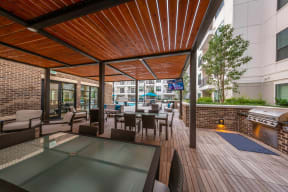 Covered Patio With Grilling Station at Windsor Old Fourth Ward, Atlanta, GA