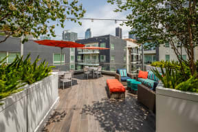 Rooftop Deck for Soaking Up Sun at South Park by Windsor, 90015, CA