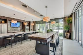 TV Lounge Area With Community Kitchen at Windsor at West University, Texas, 77005