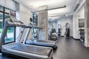 Cardio and Weightlifting Equipment at IO Piazza by Windsor, 2727 South Quincy Street, Arlington