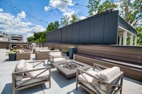 Courtyard with Open Air Seating at Morningside Atlanta by Windsor, Atlanta, 30324