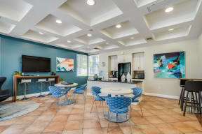 Clubhouse with Wi-Fi Printers at Pavona Apartments, San Jose, 95112