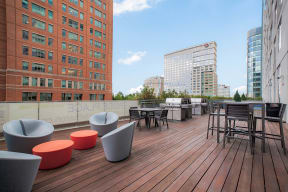 Rooftop deck at Waterside Place by Windsor, Boston, 02210