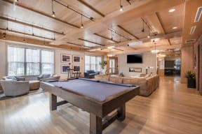 Billiards Table In Clubhouse at Jack Flats by Windsor, 02176, MA