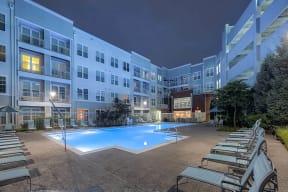 Resort-style swimming pool at The Ridgewood by Windsor, Fairfax, VA