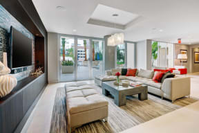 Resident Lounge with TV at South Park by Windsor, Los Angeles, CA