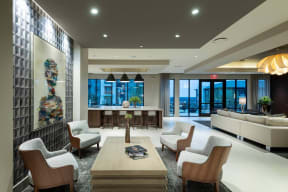 Spacious Clubhouse Leads Out to Pool at Windsor Oak Hill, Austin, 78735