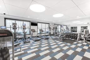 Fitness Center With Modern Equipment at Jack Flats by Windsor, 1000 Stone Place, Melrose