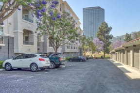 Private Garages and Parking at Windsor Lofts at Universal City, California, 91604