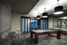 Recreation Room with Billiards Table at Windsor Oak Hill, Texas, 78735