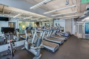 Cardio Equipment in Fully-Equipped Fitness Center at Renaissance Tower, Los Angeles, CA