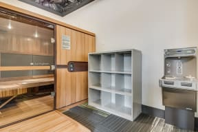 Sauna at Tera Apartments, 98033, WA