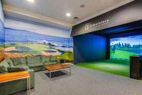 Golf simulator at The Aldyn, New York, NY