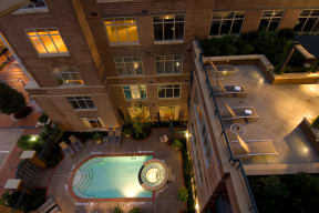 Heated Outdoor Pool With Sundeck at Crescent at Fells Point by Windsor, Baltimore, Maryland