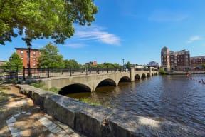 Enchanting Charles River close to Windsor Village at Waltham, Massachusetts, 02452