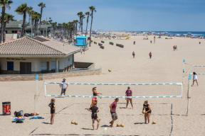 Beach Volleyball Courts near Boardwalk by Windsor, California, 92647