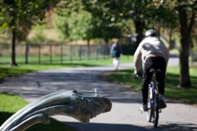 Minuteman Biking and Hiking Trail right by Windsor at Cambridge Park, Cambridge, Massachusetts