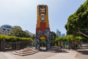 Grand Hope Park Public Art near Renaissance Tower, California, 90015