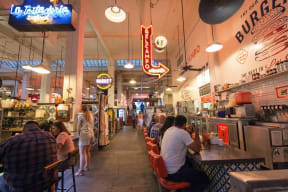Plentiful Local Dining Options In Neighborhood at South Park by Windsor, Los Angeles, CA