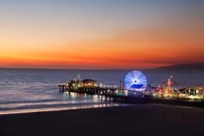 Santa Monica Pier near Sea Castle, 1725 Ocean Front Walk, CA