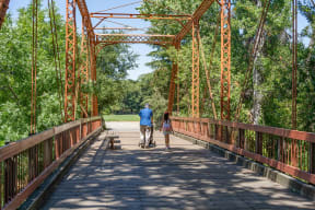 Explore the great outdoors on the Iron Horse Trail. at Villa Montanaro, 94523