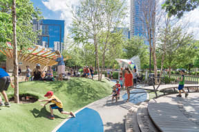 5.2-acre urban green space of Klyde Warren Park at The Monterey by Windsor, Dallas, TX