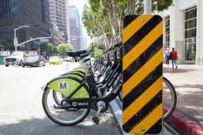 Metro Bike at Renaissance Tower, 501 W. Olympic Boulevard, Los Angeles