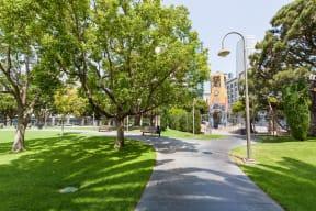 Grand Hope Park Green Space near Renaissance Tower, Los Angeles, CA