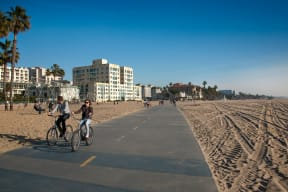 Santa Monica Boardwalk by Sea Castle, Santa Monica, California