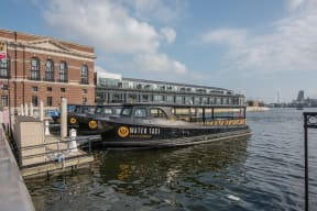 Commuting via Water Taxi at Crescent at Fells Point by Windsor, 951 Fell Street, MD
