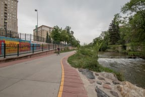 Biking and Running Trail near The Manhattan Tower and Lofts, Denver, Colorado