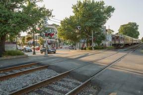 Commuter Rail is Close to Windsor at Oak Grove, Melrose, MA