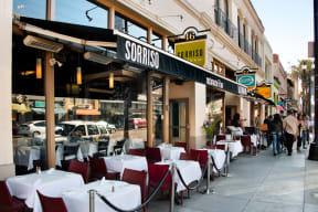 Dine al fresco in Old Town Pasadena near Terraces at Paseo Colorado, Pasadena, California