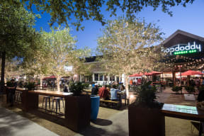 Patio Dining At Hopdoddy near Windsor at West University, Houston, Texas